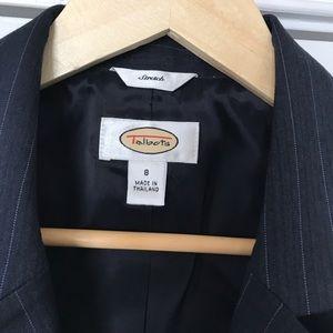 Talbots Womens Pinstripe Vest with Lapels